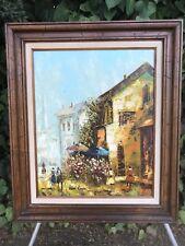 RENE CARON Original 1970s MODERN IMPRESSIONIST IMPASTO MID CENTURY Oil on Canvas