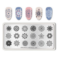 BORN PRETTY Nail Art Stamping Plates Rectangle Flowers Manicure Decoration DIY