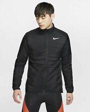 NIKE Men's AeroLayer AeroLoft Running Golf Puffer Jacket Coat Black MEDIUM