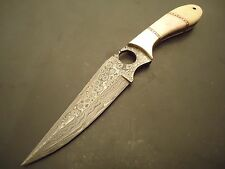"""Pioneer Custom Made Damascus Steel Hunting Knife With Brass Bolster 11"""" Pt-2310"""