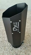 """Diesel truck octagon exhaust tip 4"""" inlet 6"""" outlet matte black Made In USA"""