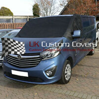 VAUXHALL VIVARO (2014-19) DELUXE WINDSCREEN SCREEN FROST WRAP COVER 251 BLACK