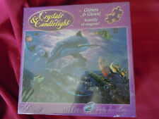 Crystals And Candlelight Dolphins Glitter Christian Lasse 750 Puzzle RARE Sealed