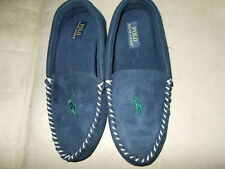 Polo Ralph Lauren Dezi II Navy Moccasin Slippers size 10