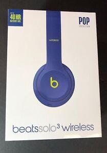 Beats by Dr Dre Solo 3 Wireless On-Ear Headphone [ Pop Indigo Edition ] NEW