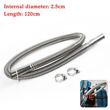 120cm Stainless Steel Exhaust Pipe Car Parking Air Heater Tank Diesel/Gas Vent