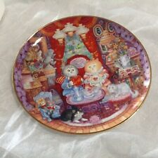 """Bill Bell's Franklin Mint """"Whisker Wuv"""" Collectible Cat Plate"""