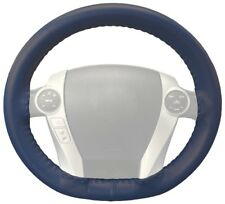 Wheelskins Blue Genuine Leather Steering Wheel Cover for Ford (Size AX)