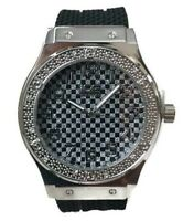 Mens Casual Watch Ice Master BM1320 Black Band White Dial, Fashion Watch 1ATM