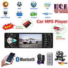 4.1'' 1 DIN Car Stereo Radio HD MP3 MP5 Player Bluetooth FM SD/USB AUX + Camera