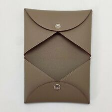 Handmade Genuine Epsom Calvi Credit Card holder Wallet Purse Free Shipping