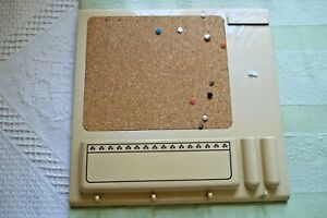 VINTAGE 70'S MELAMINE & CORK MESSAGE BOARD