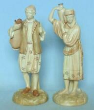 PAIR OF VICTORIAN ROYAL WORCESTER BLUSH FIGURINES WATER CARRIERS 1206