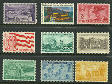 1945 US # 935 - 3¢ Navy, # 997 - 3¢ California, #1025 - 3¢ Trucking Industry MNH