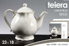 TEIERA COLOR CHIC BEIGE SERVI THE TEA Tisane CERAMICA PORCELLANA JAL 677557