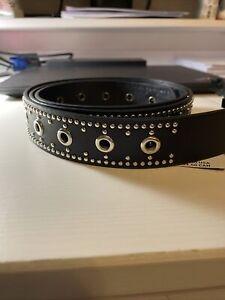 nwt torrid black studded grommet jean belt 2x