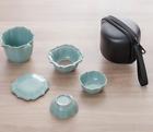 Portable Ceramic Gaiwan Tea Set Travel Bag Teapot Infuser Tea Cup Loose Leaf Tea