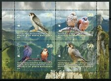 North Macedonia 2019 MNH Birds Falcons Europa 4v M/S Booklet Birds on Stamps