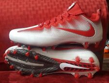 NIKE VAPOR UNTOUCHABLE PRO FOOTBALL CLEATS SIZE 13.5 WHITE RED 844816-160