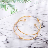 Beauty Women Cuff Gold Plated Open Knotte Arrow Bangle Bracelet Set Jewelry Gift