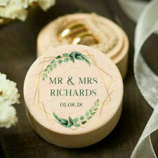 Personalised Wooden Wedding Ring Box, Page Boy Ring Bearer Printed Gift Proposal