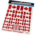 "Autographics Rare Vintage Canadian Flags Decal Sheet AUT822 6""x8"" sheet"