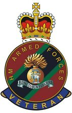 Royal Dublin Fusiliers HM Armed Forces Veterans Clear Cling Sticker