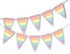 Gay Pride Pastel Rainbow Coloured Bunting Banner Month Pride decoration