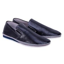 NEW Mens Slip On Dress Casual Shoes ZANZARA Premium Leather NEW Size 9 Black