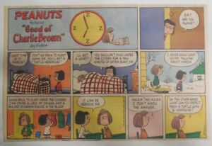 (51) Peanuts Sunday Pages by Charles Schulz from 1983 Size: ~11 x 14 inches