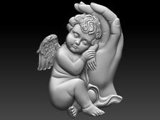Angel with hand STL file - Model for CNC Router Machine