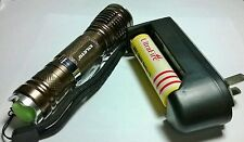 1600 Lumen Cree Ultrafire XML T6 5 Mode Zoom flashlight set w Battery & charger