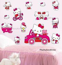 Hello Kitty rose wall stickers filles Décor Amovible Vinyle Art Décalcomanie Enfants