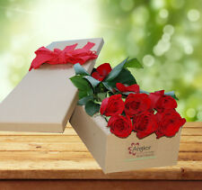 Fresh Flowers Delivery Sydney-  Exotic Rose Gift Box- 6 Long Stems - Valentine's