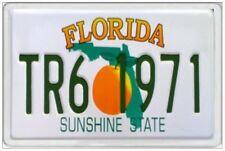 FLORIDA - JUMBO FRIDGE MAGNET - LICENCE PLATE UNITED STATES AMERICA TALLAHASSEE