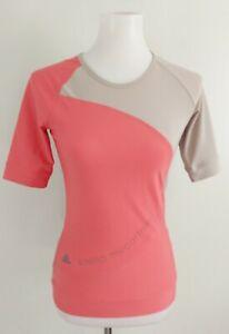 Stella McCartney x Adidas Running Top Womens S Stretch Activewear Coral Tan 2014