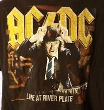 AC/DC Live At River Plate Concert Tee T-Shirt Size Large Black
