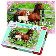 Trefl 160 Piece Kids Unisex Sweet & Lovely Horses Field Walk Jigsaw Puzzle NEW