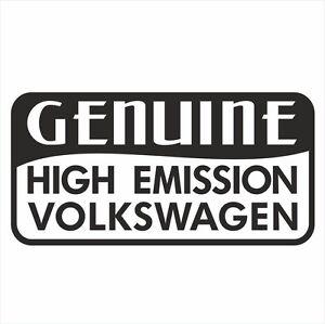 VOLKSWAGEN VW GENUINE HIGH EMISSION FUNNY BUMPER DECAL PASSAT GOLF TIGUAN AMAROK