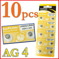 10pcs AG4 SG4 LR626 LR66 1.55V Alkaline Watches Button coin Cell Battery Suncom