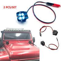 2PCS KYX Square LED Spotlight Light For 1/10 TRX4 TRX6 SCX10 II 90046 D90 RC Car