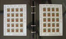 s1763) Liechtenstein Colección de CPL 20 Hojas 1987 - 1995 Michel KW