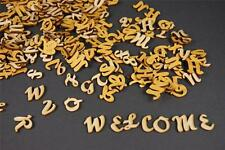 250+ Wooden Small (2cm) Adhesive Letters & Digits Craft Alphabet Decoration NF15