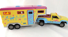 Breyer Stablemates Pony Gals Park & Ride Truck & Horse Trailer Pink Yellow 1:32