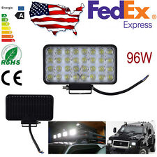 96W LED 32LEDs Work Light Bar Flood Light For Car Offroad Truck SUV IP67 12