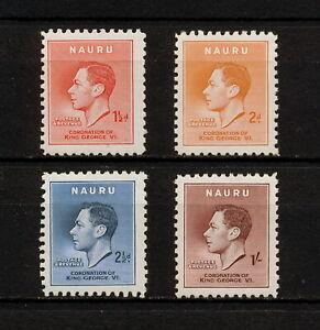 ✔️ (YYBD 030) Nauru 1937 MNH Mich 33 - 36 Scott 35 - 38 Coronation George VI