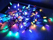 String Of 100 Pine Cone Christmas Lights Multicolor Indoor Outdoor Items Nice