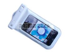 iPhone iPod Smartphone Tasche wasserdicht mit Ohrhörer-Ausgang in WEISS SAMSUNG