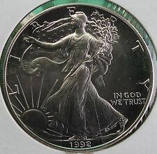 1992 BU American Silver Eagle Dollar Uncirculated ASE US Mint Bullion Coin
