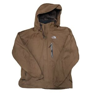The North Face Gore-tex XCR Brown Rain Coat Waterproof Jacket Removable Hood M-L
